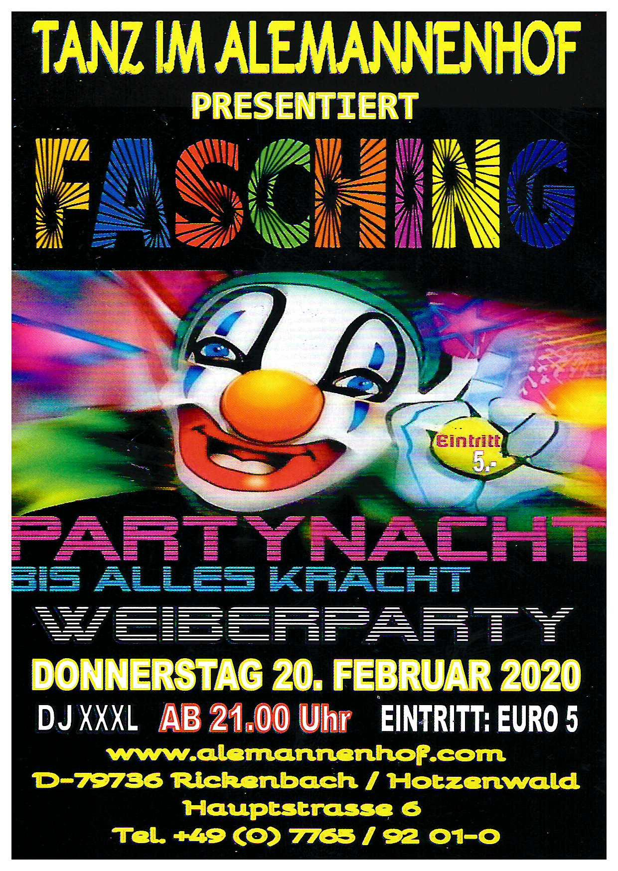 Weiberparty 20.2.20